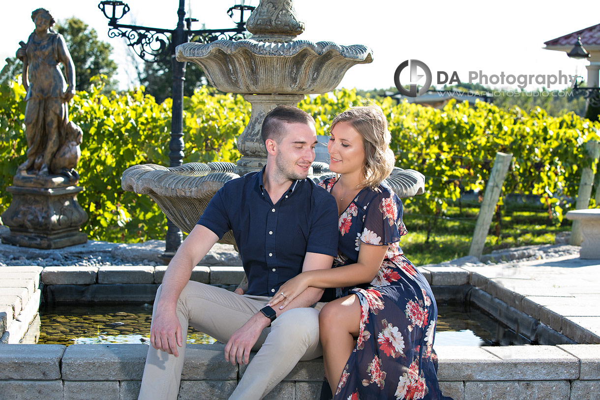 Engagement Pictures at Gallucci Winery in Whitchurch-Stouffville