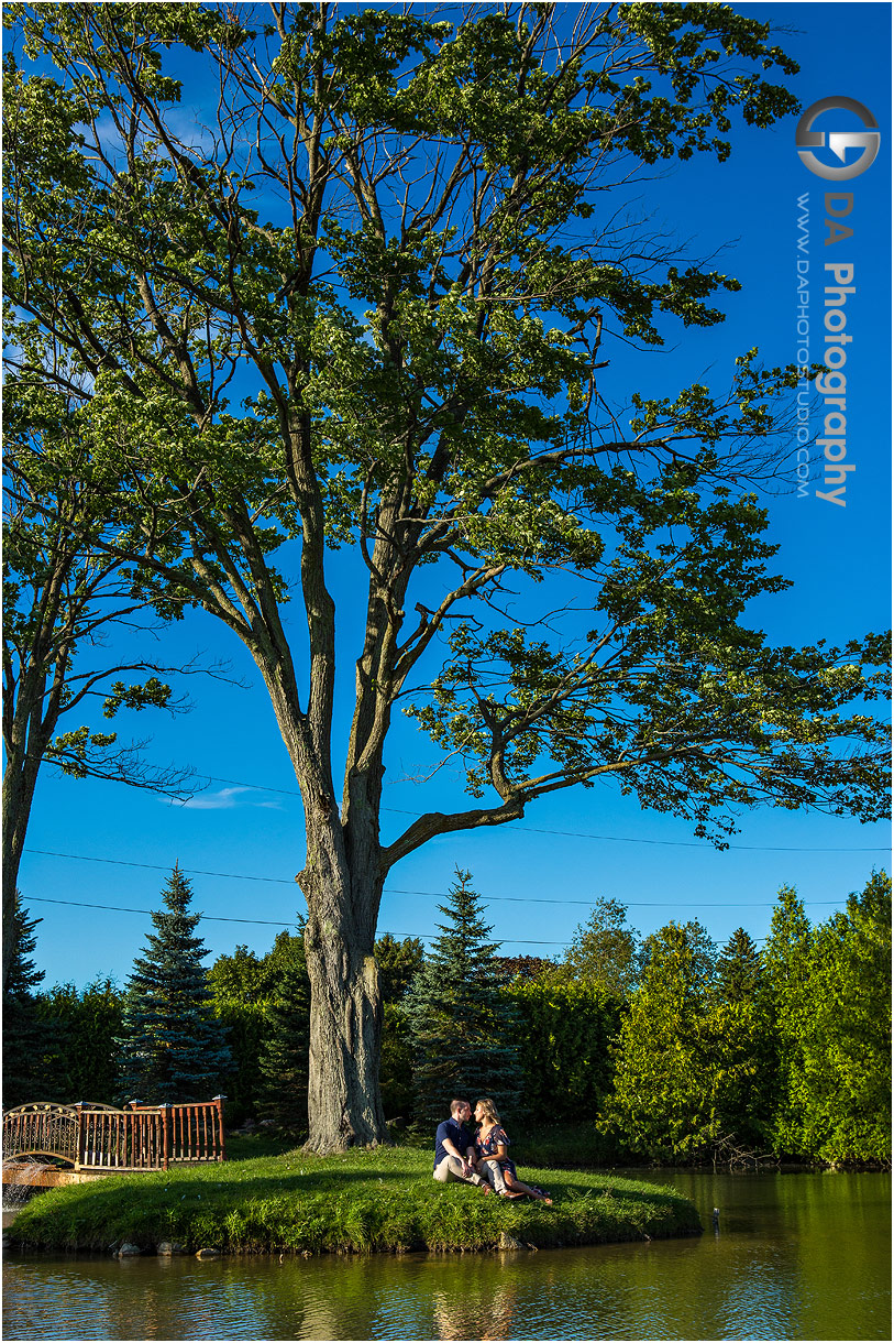 Engagement Photo at Gallucci Winery in Whitchurch-Stouffville