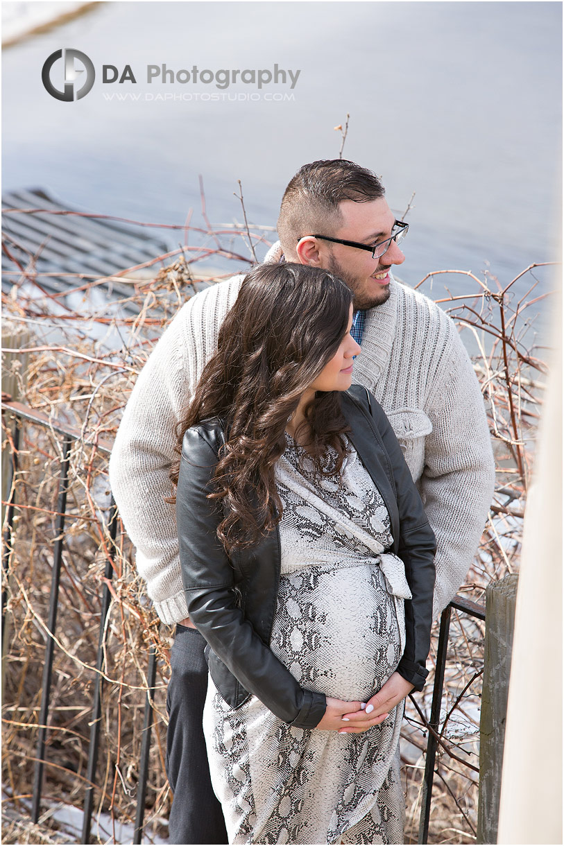 Maternity pictures at Cambridge Mill in winter