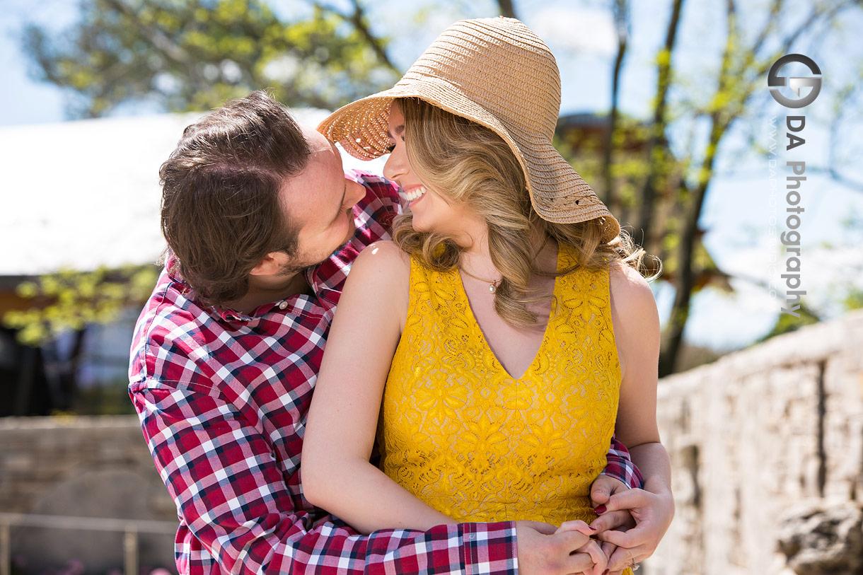 Engagement Pictures at Rock Garden in Burlington