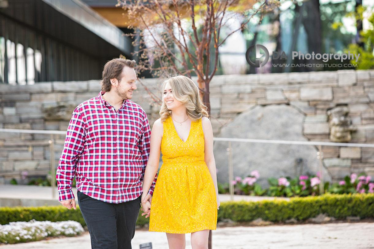 Engagement Photos at Rock Garden in Burlington