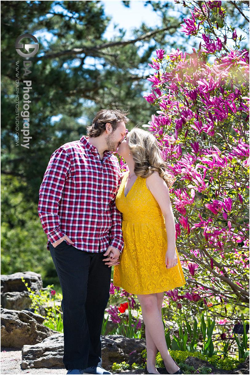 Engagement at Rock Garden in Burlington