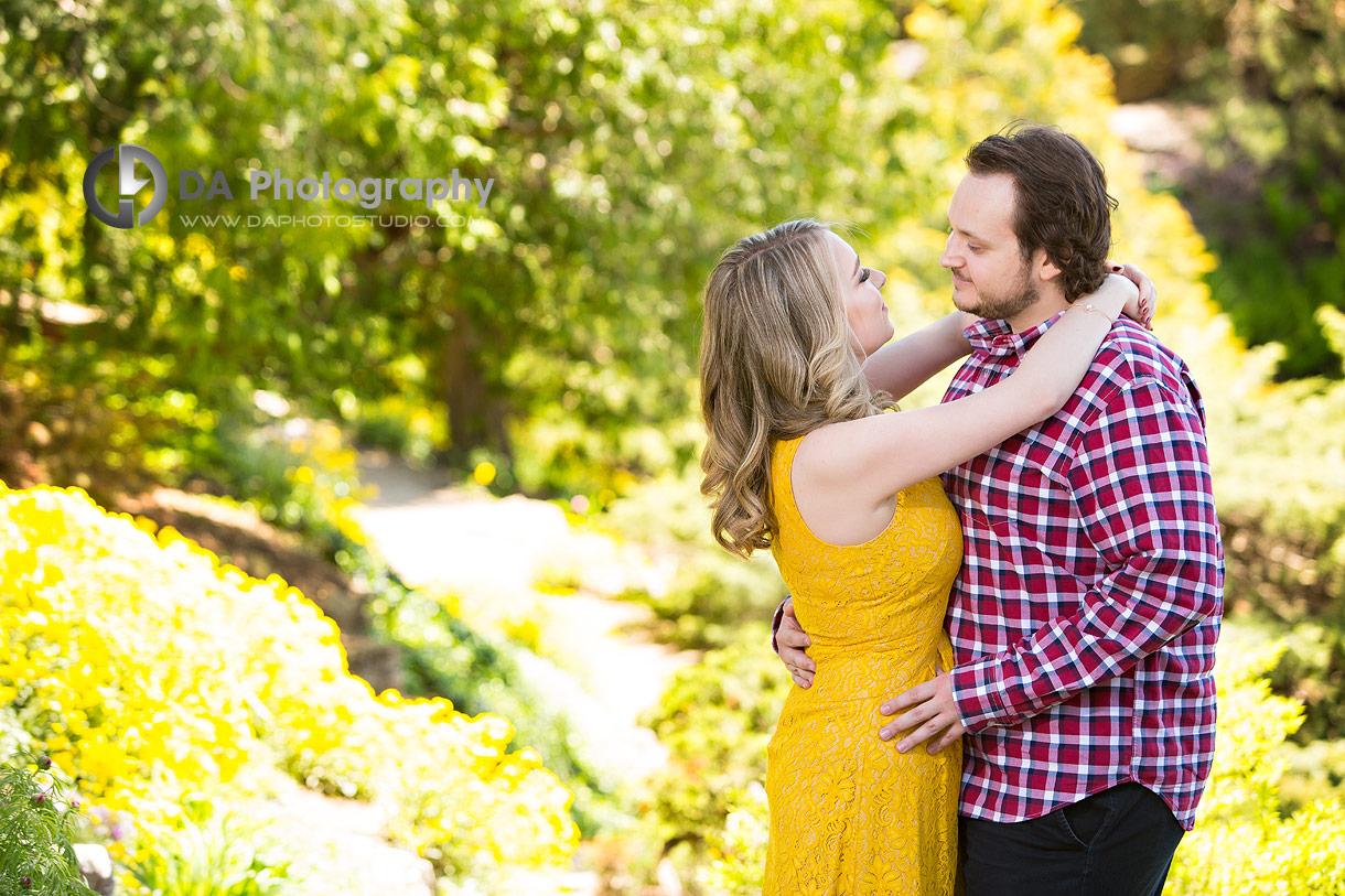 Outdoor Engagements at Rock Garden