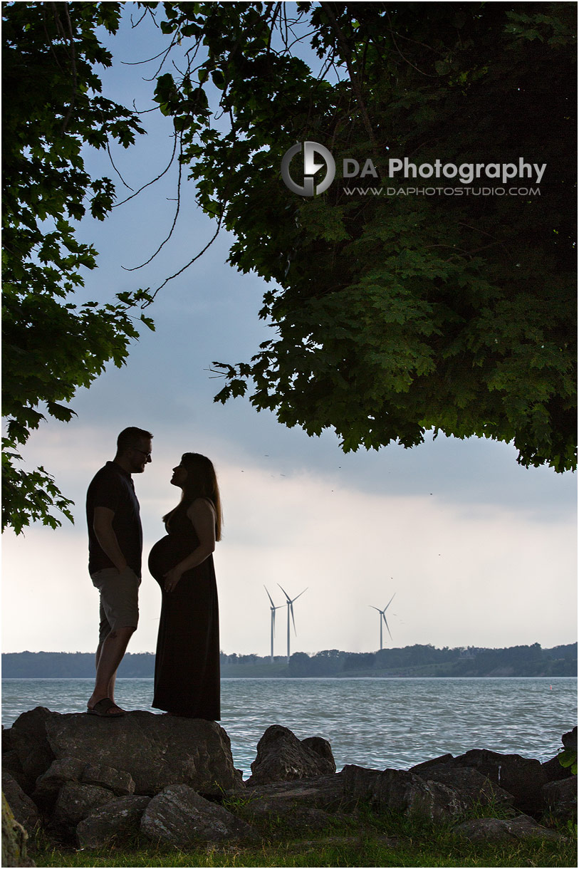 Sunset photos of maternity session in Port Dover