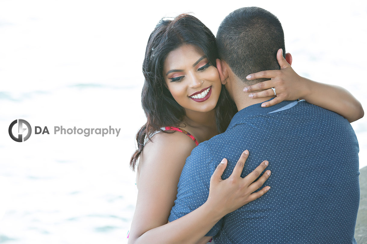 Intimate engagement photography in Oakville