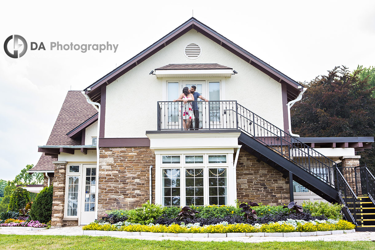 Intimate engagement photo at Gairloch Gardens