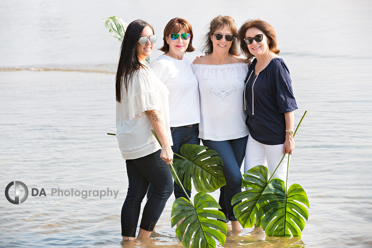 Burlington beach family photo