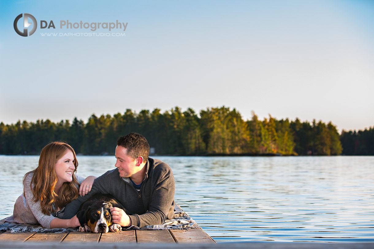 Muskoka engagements by the lake