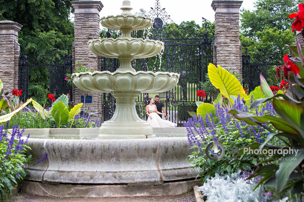 Intimate engagement photos at Royal Botanical Gardens