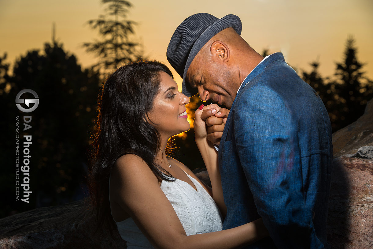Engagement photos at sunset in Etobicoke