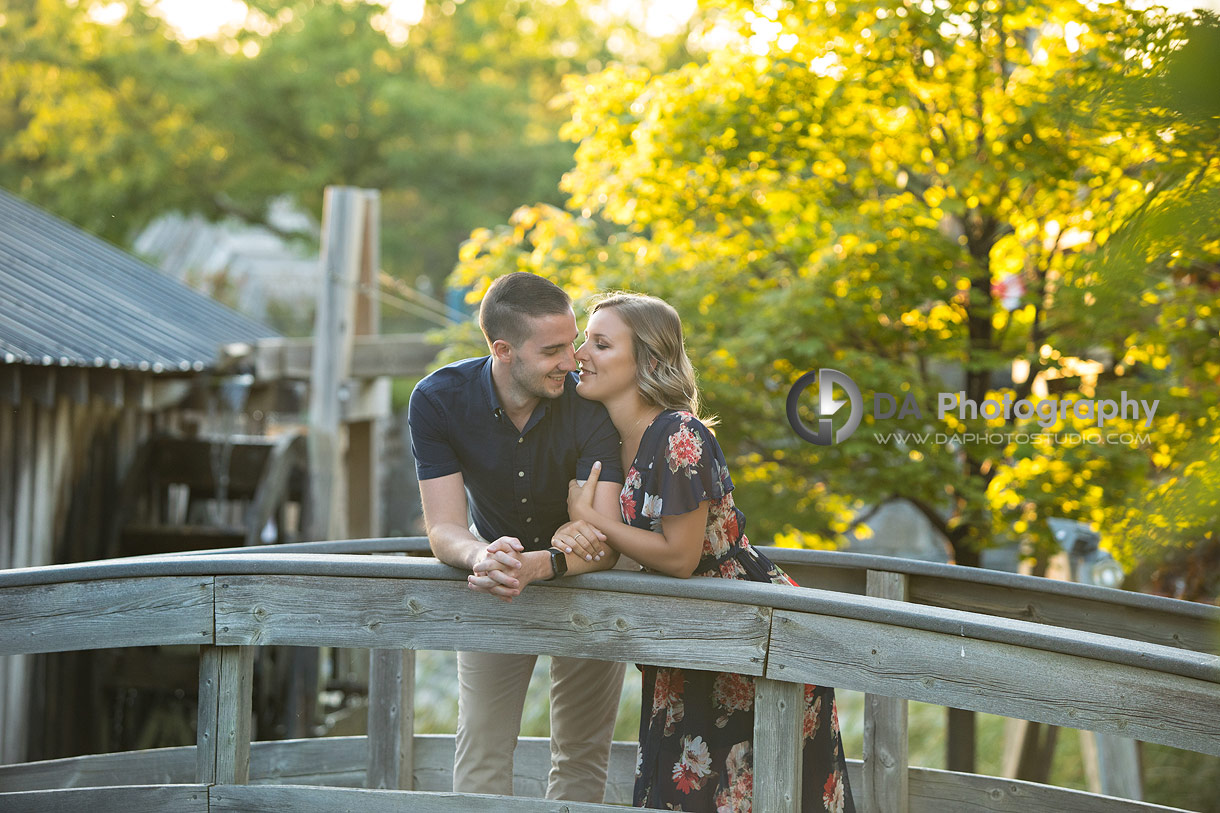 Intimate engagement photos in Stouffville