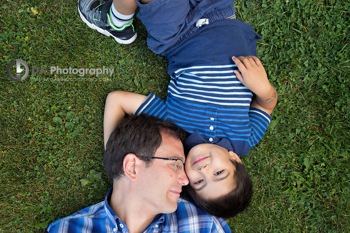 Family photo session at Humber Bay West Park