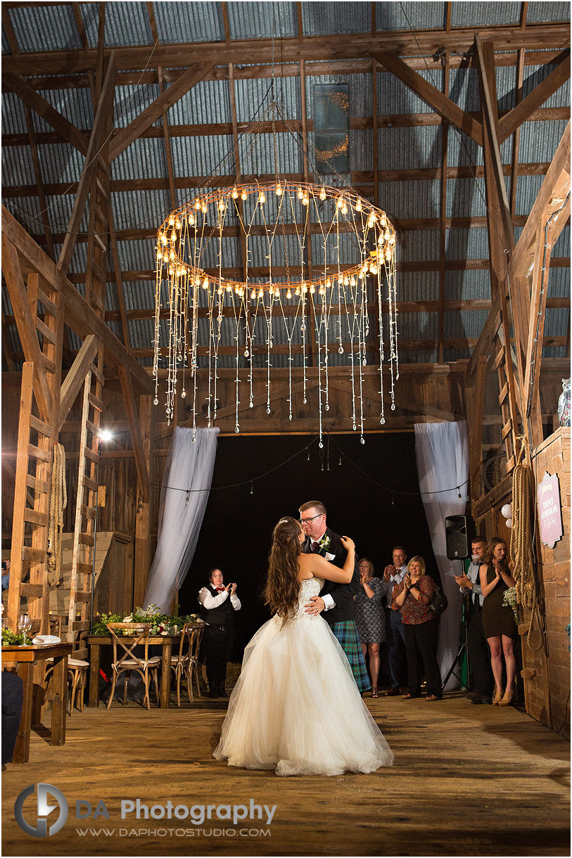 Reception at Barn weddings