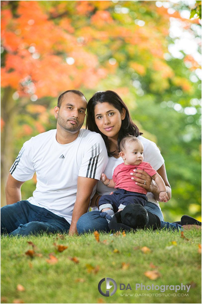 Young family outdoor photos