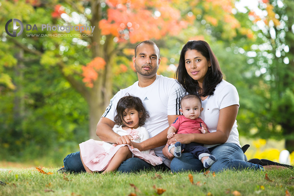 Family outdoor photos in fall