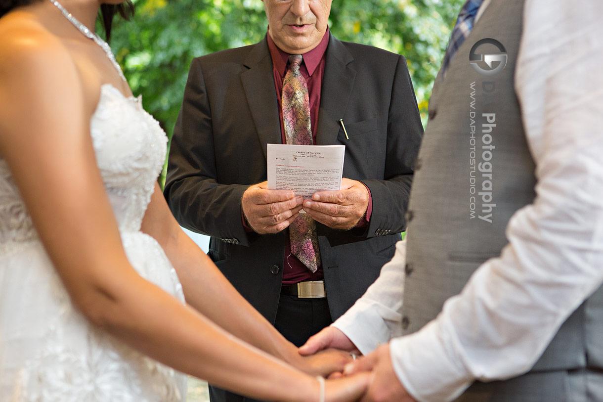 Wedding Ceremony at MillCroft Inn and Spa