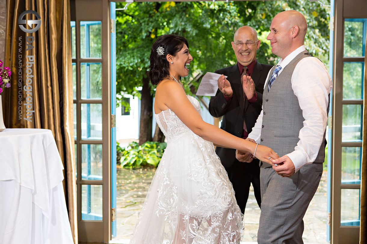 Wedding Ceremony at MillCroft Inn and Spa in Caledon