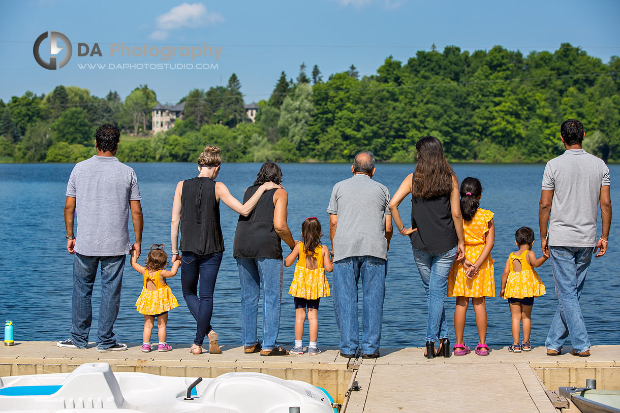 Photos at the dock at Heart Lake Conservation Area