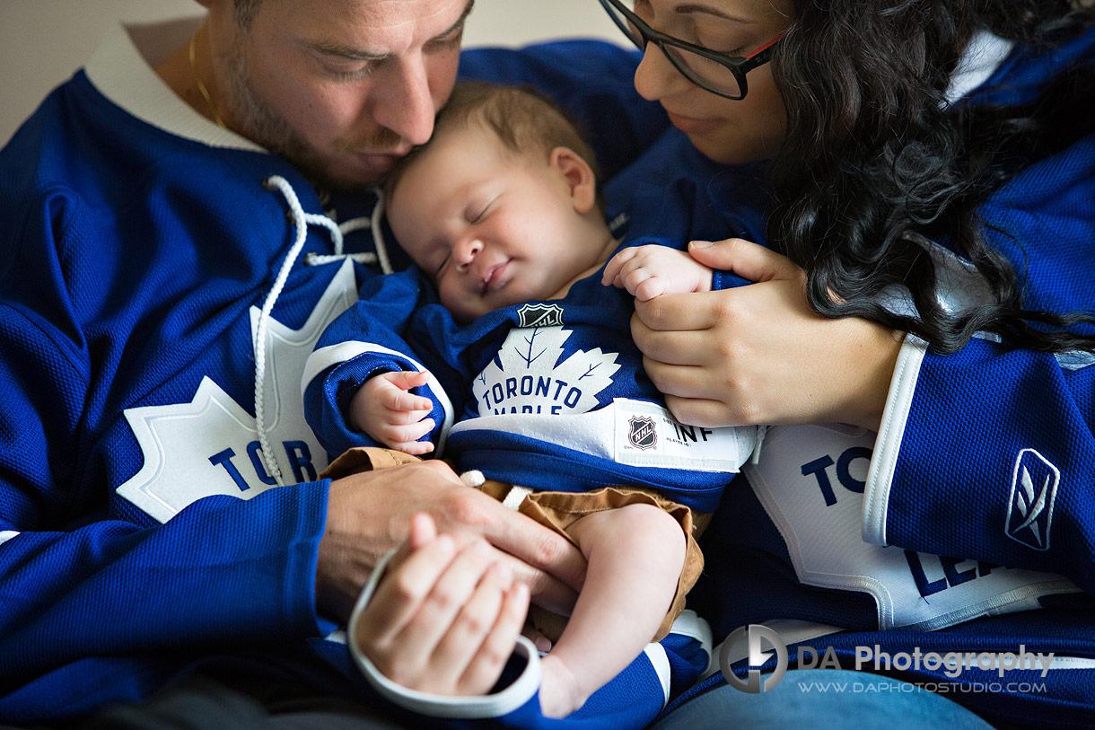 Sport theme family photo session