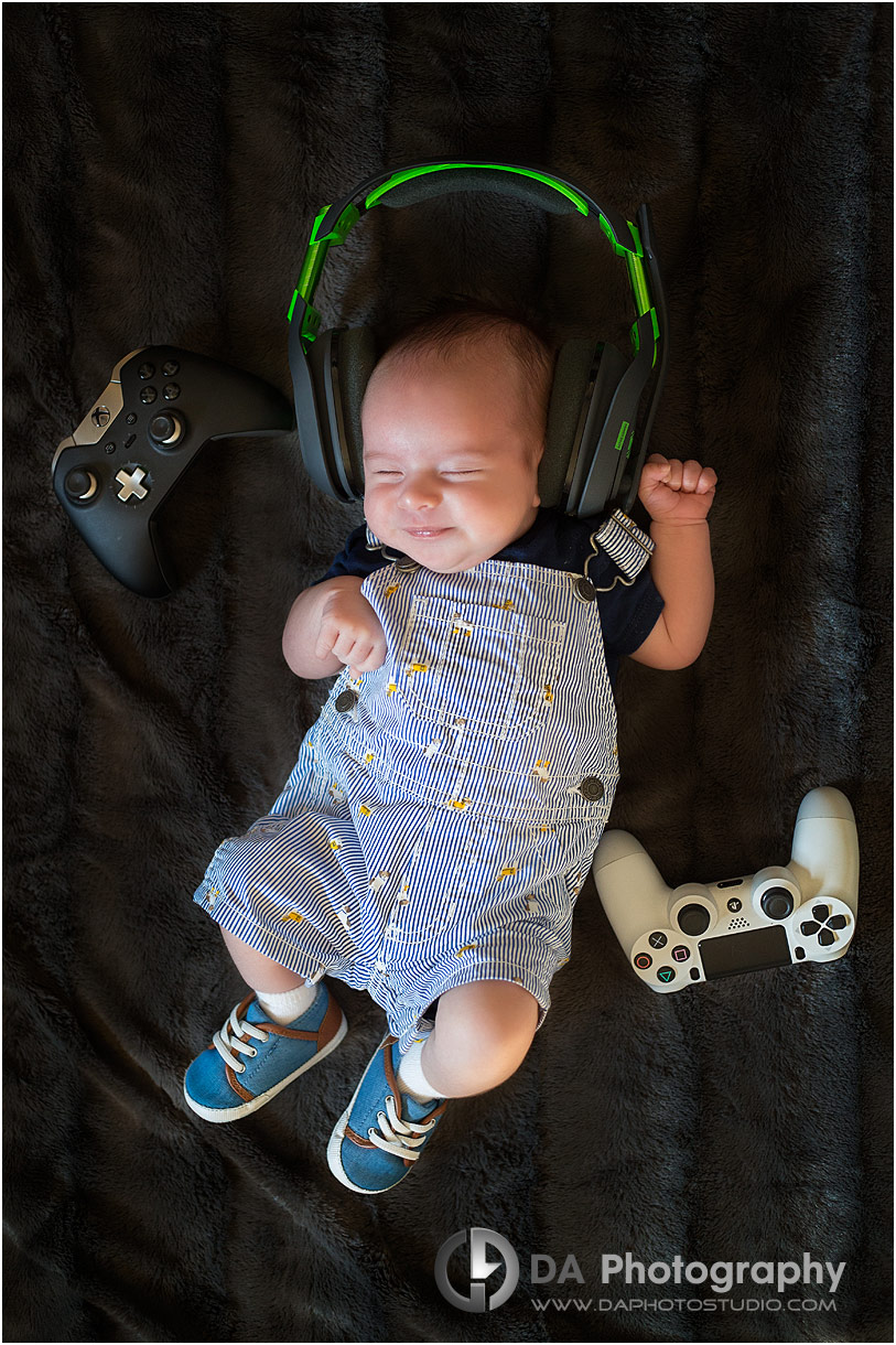 Baby photos with gaming controllers