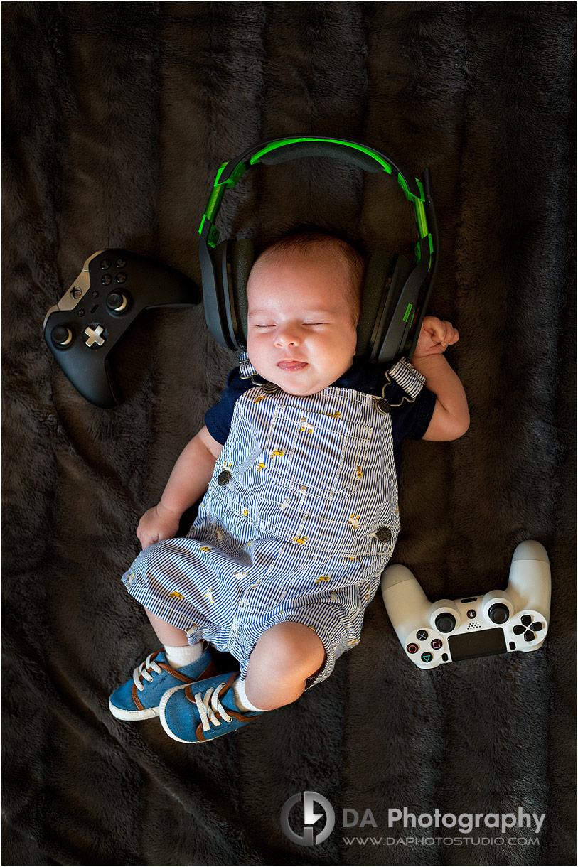 Baby photos with headphones
