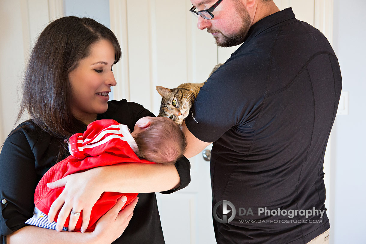 Port Dover lifestyle family photography with cats