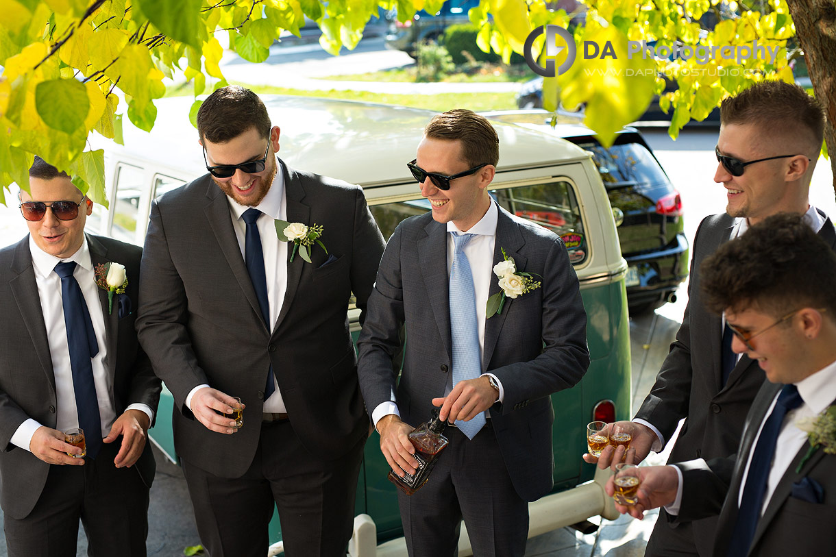 Groomsman's on a wedding day in Mississauga