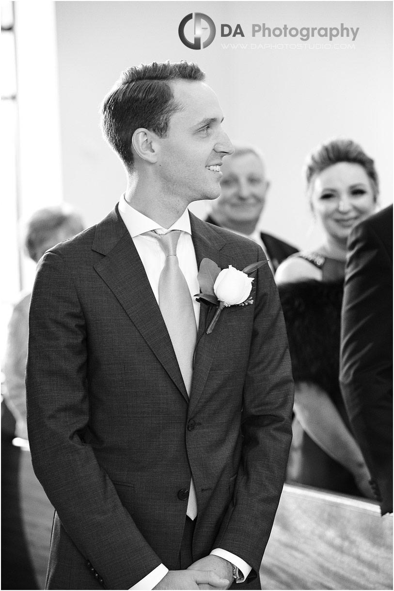 Groom at Church wedding