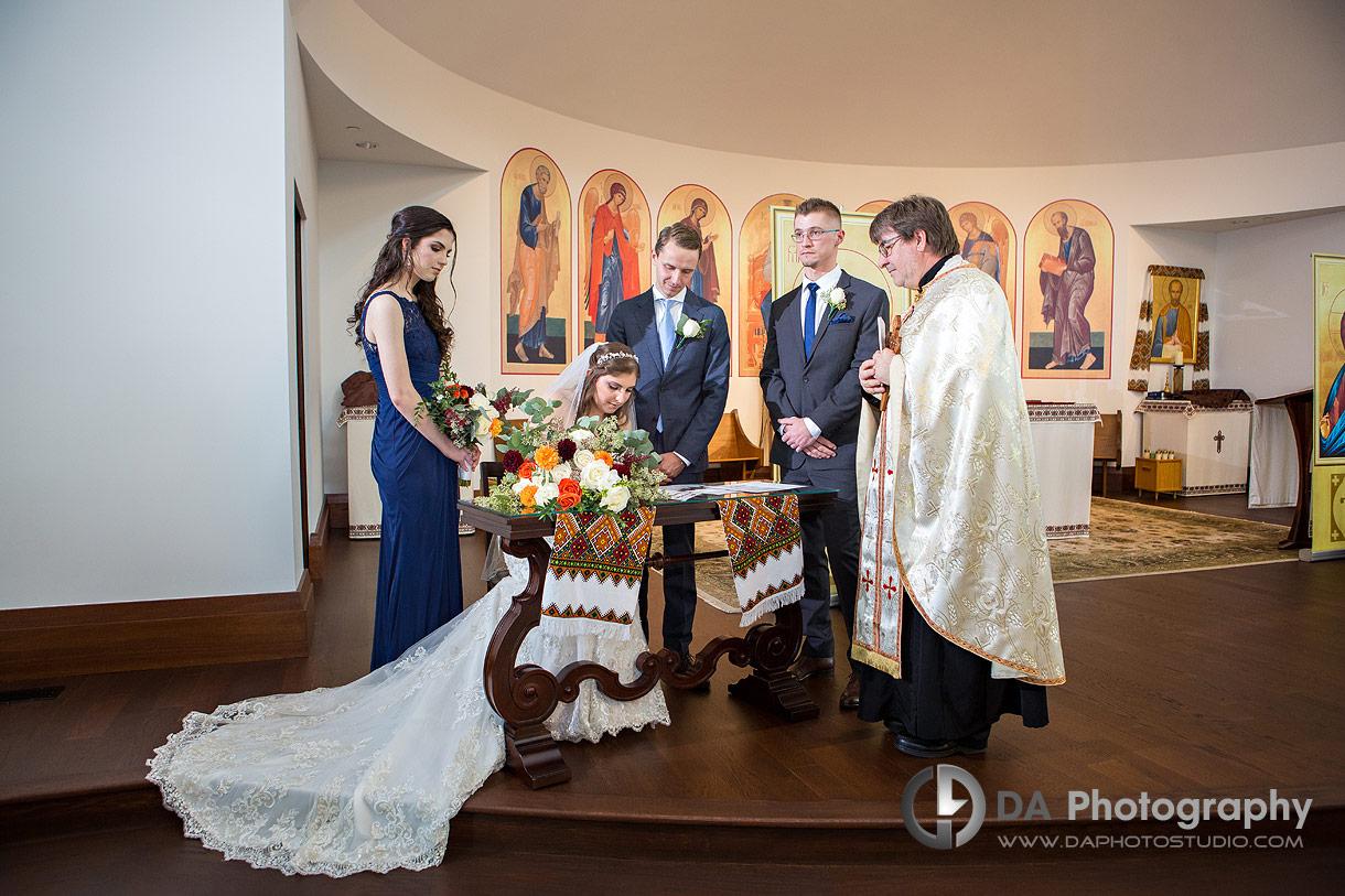 Wedding Ceremony at St. Joseph's Ukrainian Catholic Church