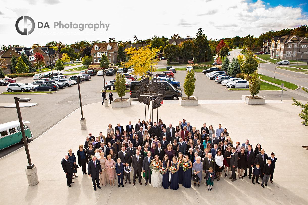Church Wedding Ceremony group photo