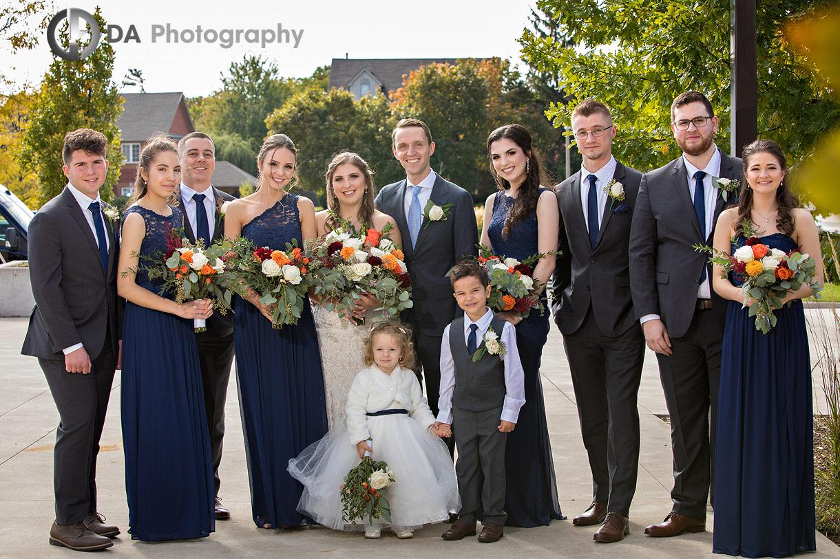 Bridesmaids at Church wedding