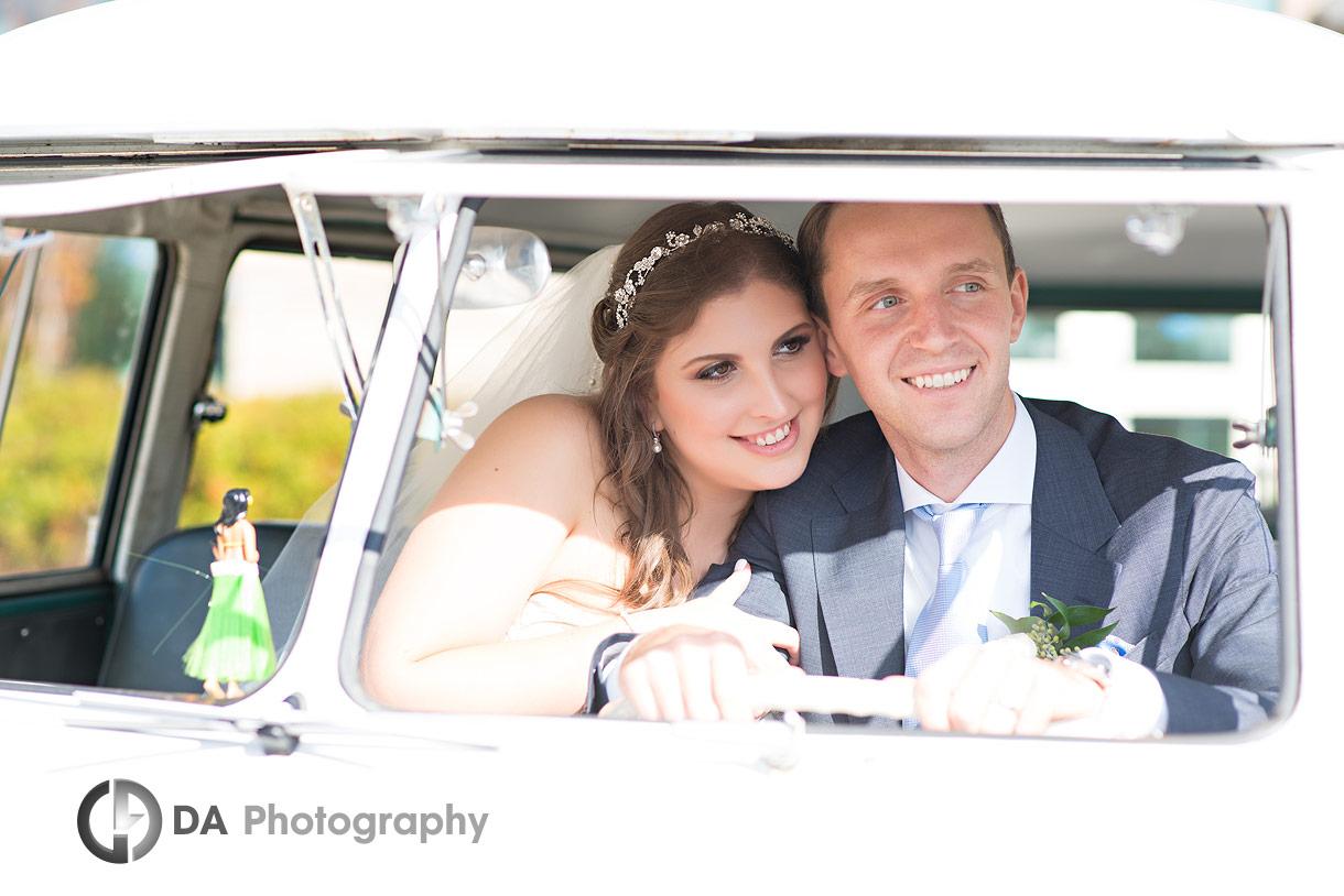 Weddings with vintage Volkswagen van
