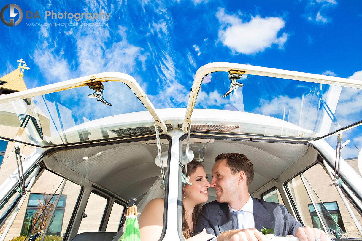 Oakville Wedding with vintage Volkswagen van