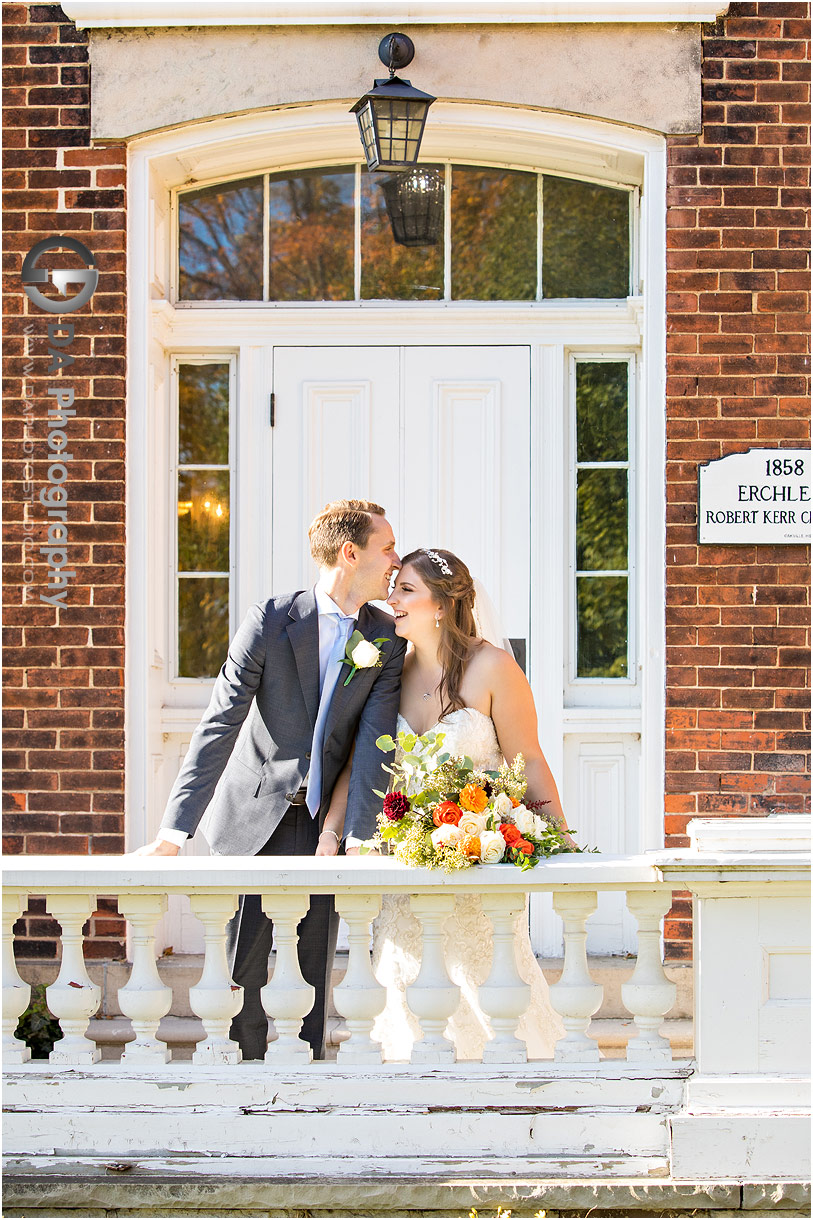 Bride and Groom at Oakville Museum