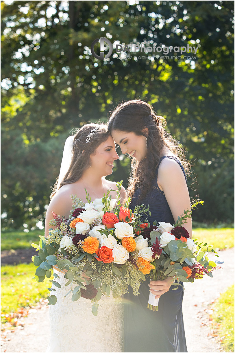 Bride and maid of honour at Erchelss Estate