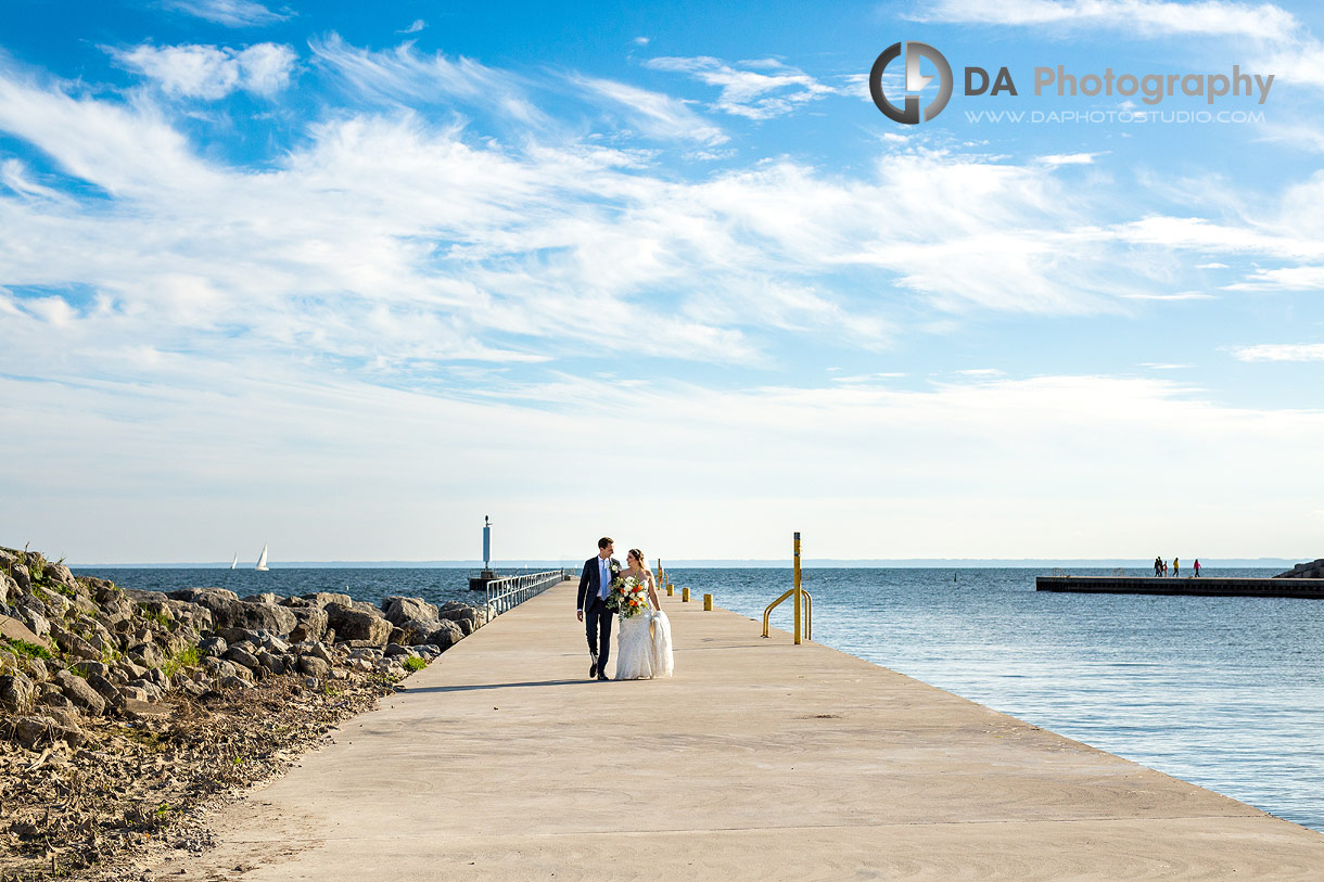 Bride and Groom at Oakville Harbour