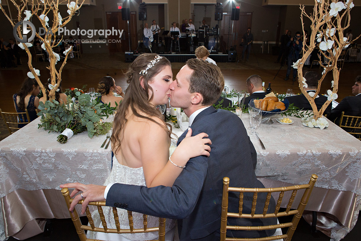 Bride and Groom at St. Joseph's Banquet Hall