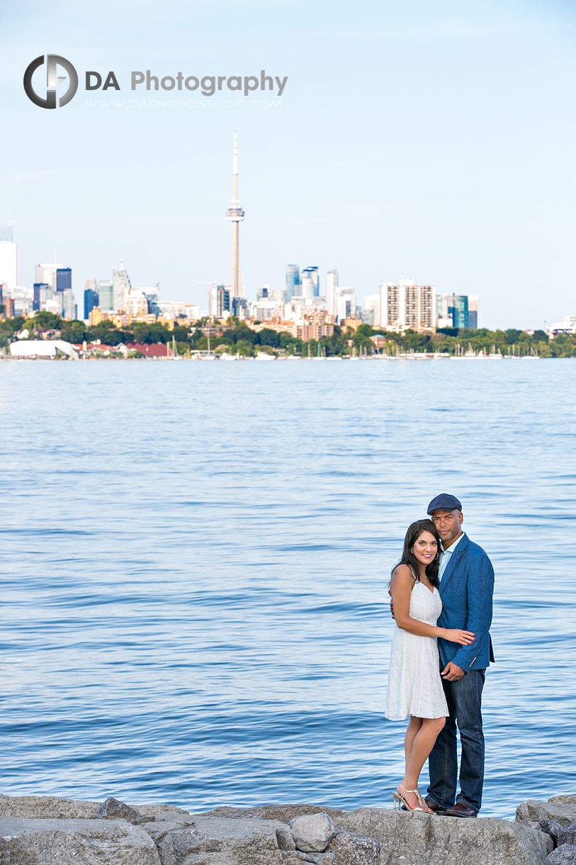 Sheldon Lookout at Humber Bay Park Engagement Photo