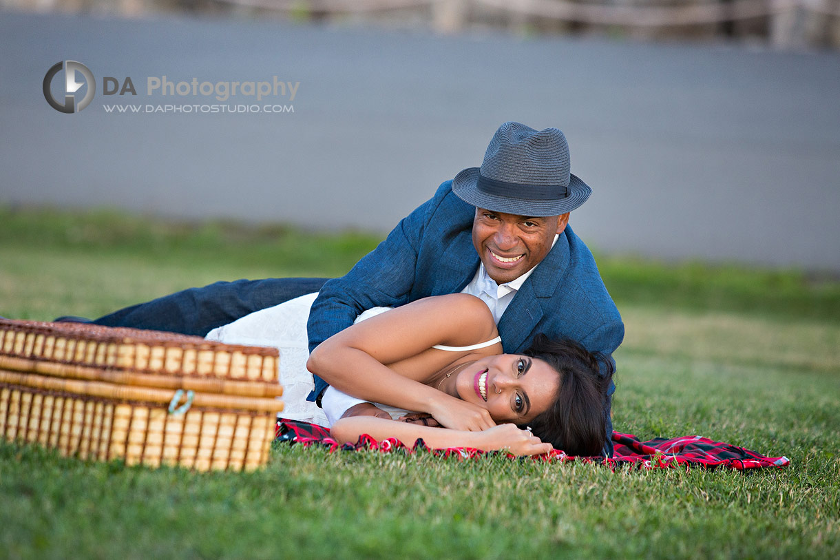 Engagement photos at Trillium Park in Toronto