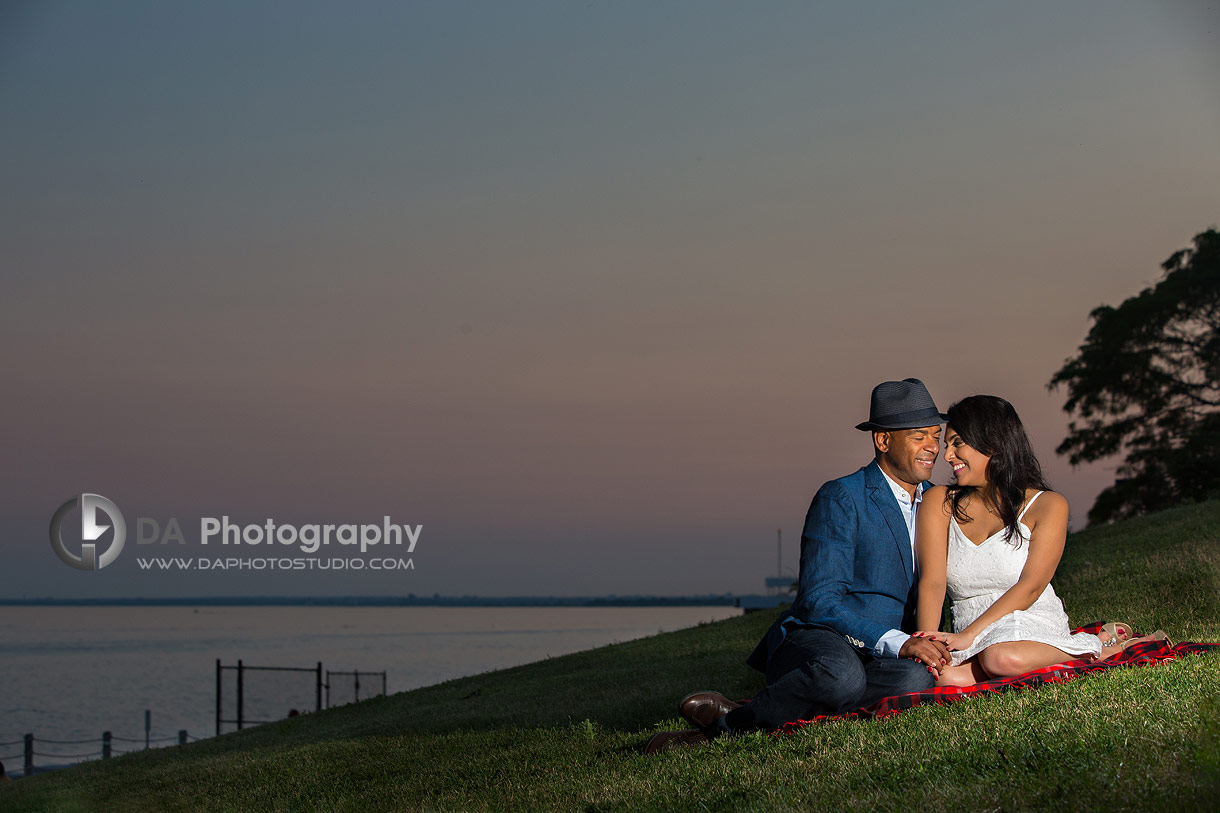 Humber Bay Park Engagement at sunset