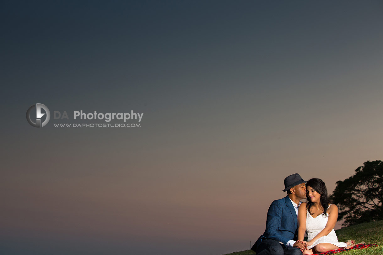 Trillium Park Sunset Engagement