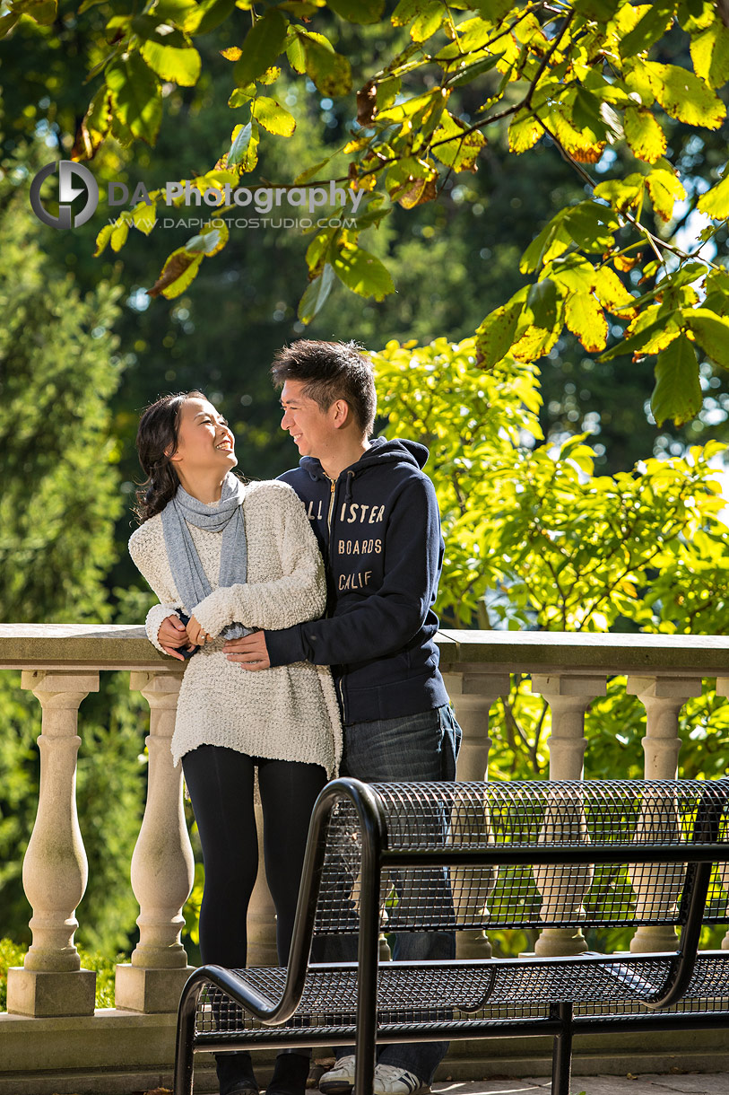 Outdoor Engagements at Paletta Mansion in fall