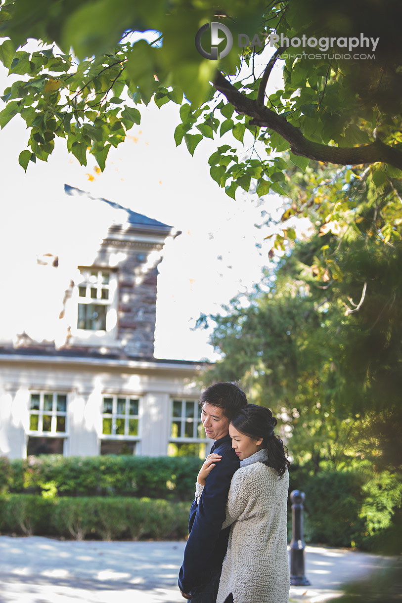 Paletta Mansion Outdoor Engagement in fall