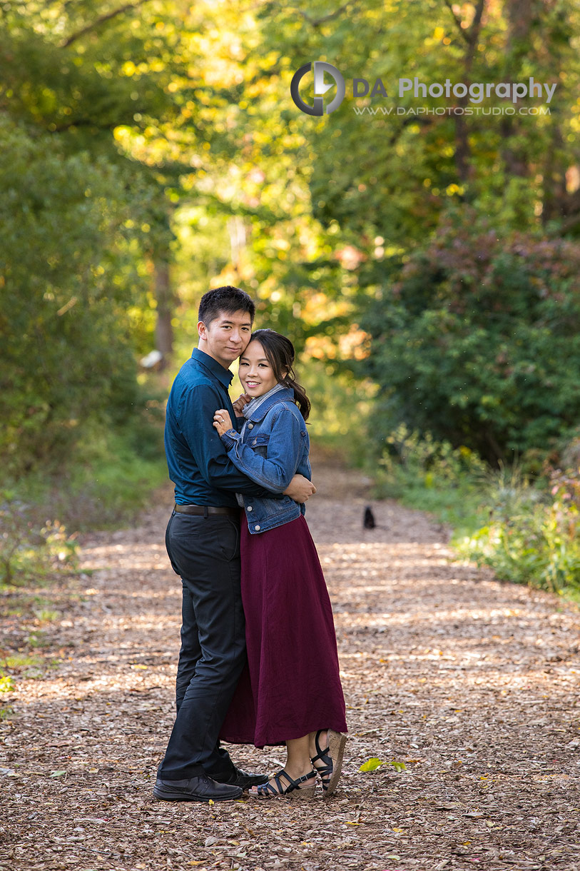 Engagement Pictures at Paletta Mansion in fall