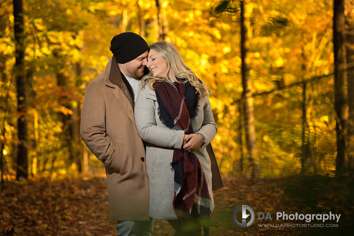 Best Mississauga Outdoor Engagement Location for fall photos