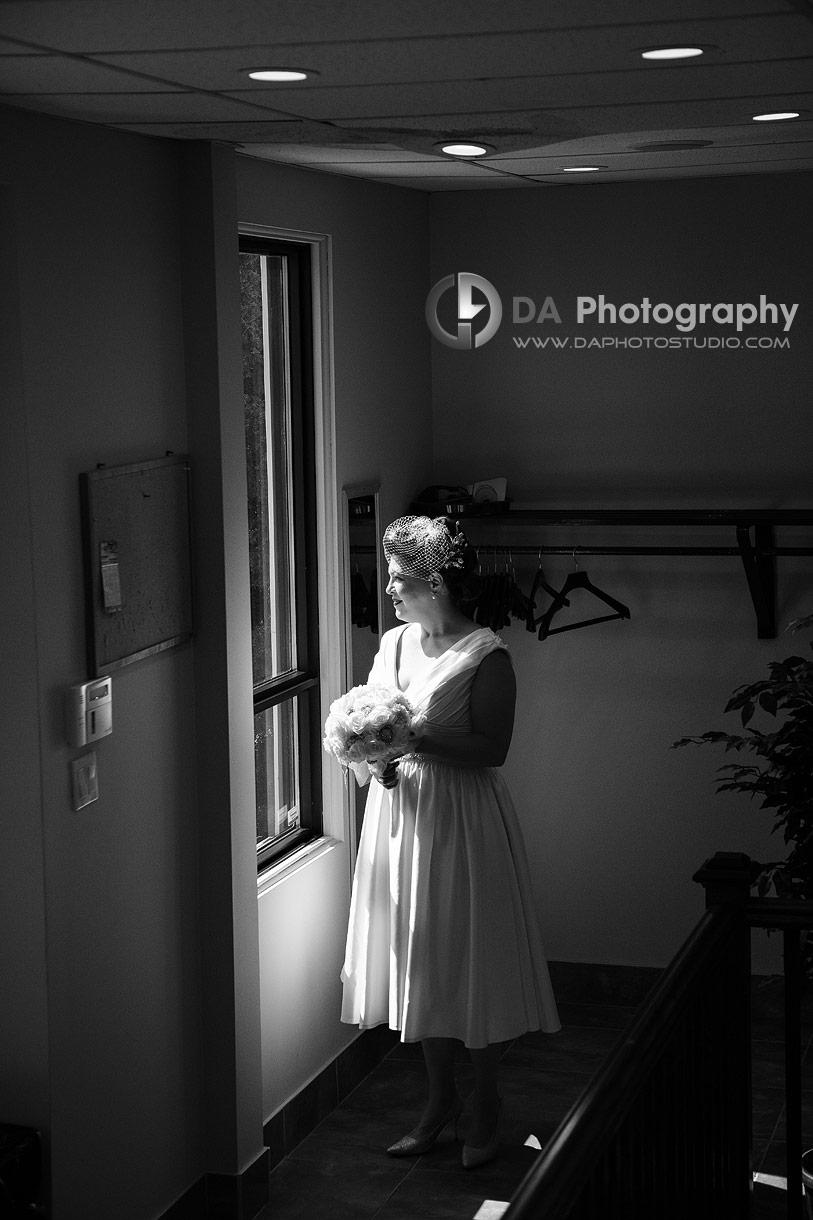 Bride at Doon Chapel in Kitchener