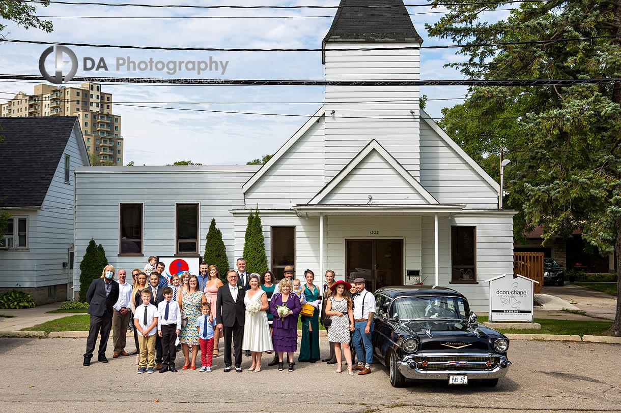 Group Wedding photos at Doon Chapel