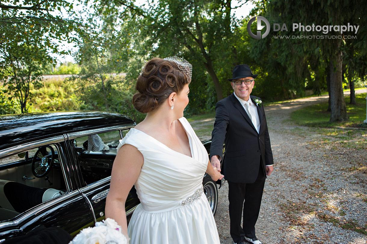 Vintage wedding photo by Chevrolet 57'