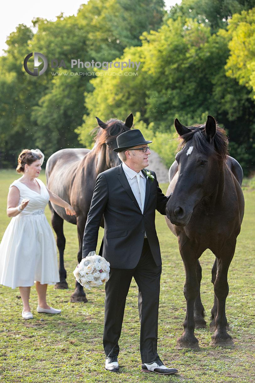 Vintage Wedding Photos with horses