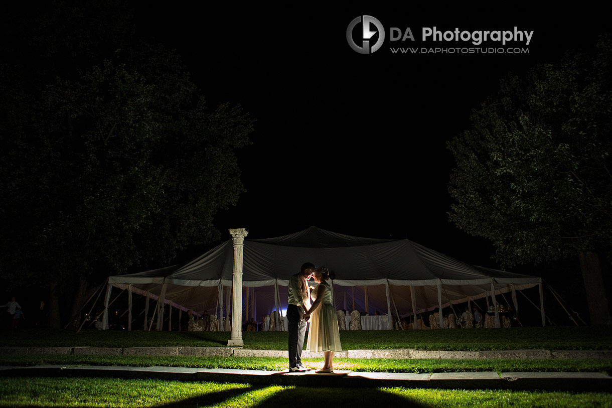 Night time session at Garden Wedding in Ayr